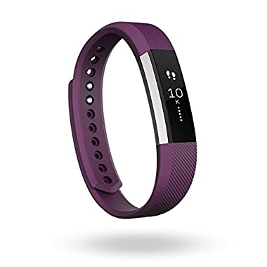 Fitbit Alta Fitness Tracker, Silver/Plum, Large