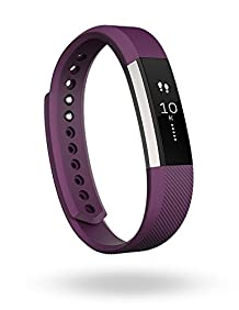 Fitbit Alta Fitness Tracker, Silver/Plum, Small (US Version)