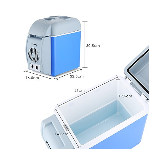 BISOZER Portable 7.5L Mini 12V Car Refrigerator Freezer Dual-Use Home Travel Vehicular Car Fridge Dual-Mode Temperature Control Dual-use by BISOZER (Image #2)