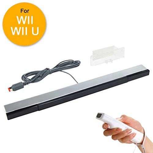 Bar Sensor Wii Best (WII Sensor Bar, WII U Sensor Bar Wired Infrared IR Ray Motion Sensor Bar for Nintendo Wii/Wii U Console)