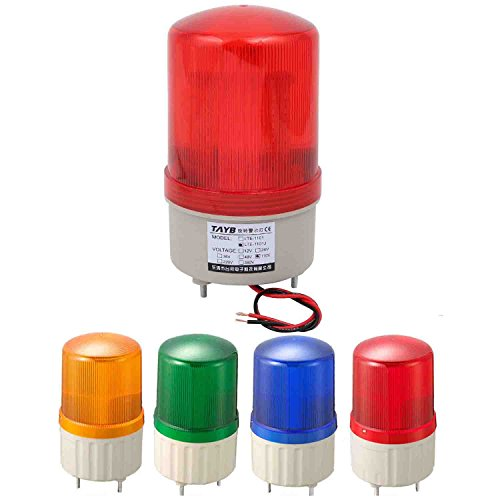 LED Warning Light Signal Tower LampIndustrial 105-110dB Buzzer Siren AC 110V (Blue) by Sweet Melodi