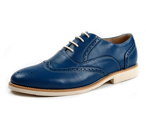 Herren Lederschuhe Herren Lederschuhe Leisure Pointed britischen Stil Spitze einzelne Schuhe Herrenschuhe ( Farbe : Schwarz , größe : EU44/UK8.5 ) Blau