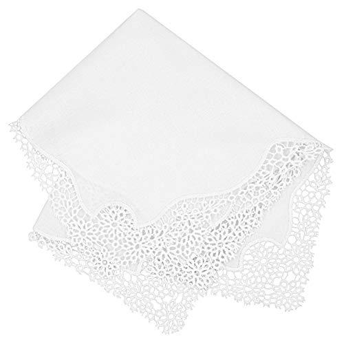 Milesky Bridal Wedding Crochet Lace Handkerchief premium 60S Cotton CH03
