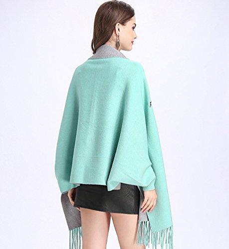 Suéter Cárdigan Azul Mujeres Para Punto Creativo Del Mujer Gris De 6yqwH6Pr