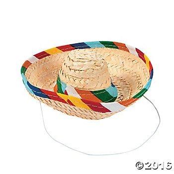 Mini Sombrero Hat with String 1 DZ - Cinco de Mayo decor -
