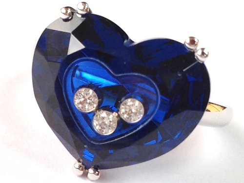 chopard-so-happy-18k-white-gold-diamond-blue-stone-heart-ring-826233-1107-msrp-5050
