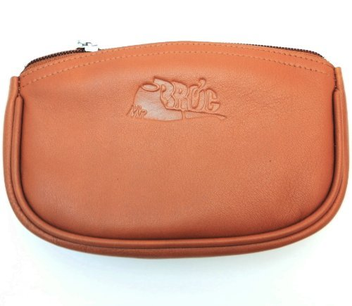 (Sheep Napa Leather Tobacco Pouch with Rubber Lining to Preserve Freshness by Mr. Brog)