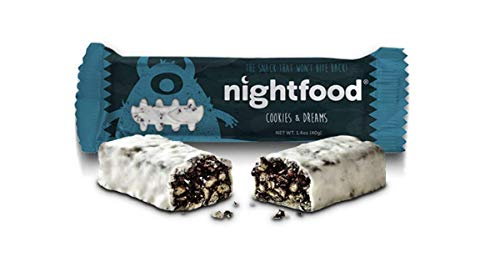 (NightFood Snack Bars for Better Night Snacking, 12-Pack, Cookies n' Dreams Flavor)