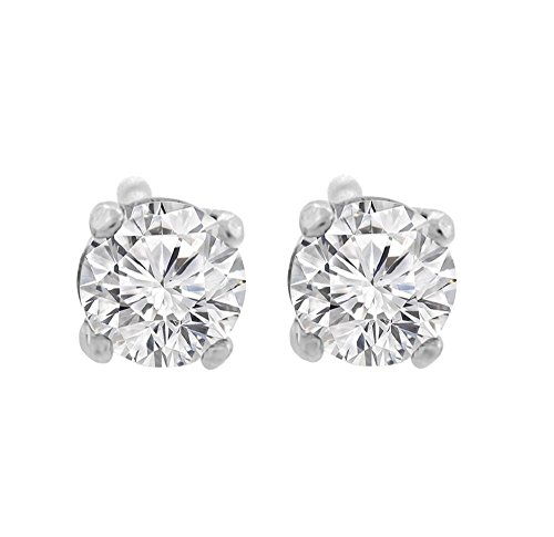 Vs2 Natural (0.42 ct tw G VS1 Natural Round Diamond Studs 14K Gold Screw Back)