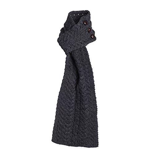 Boyne Valley Knitwear Merino Wool Aran Loop Scarf (Charcoal)