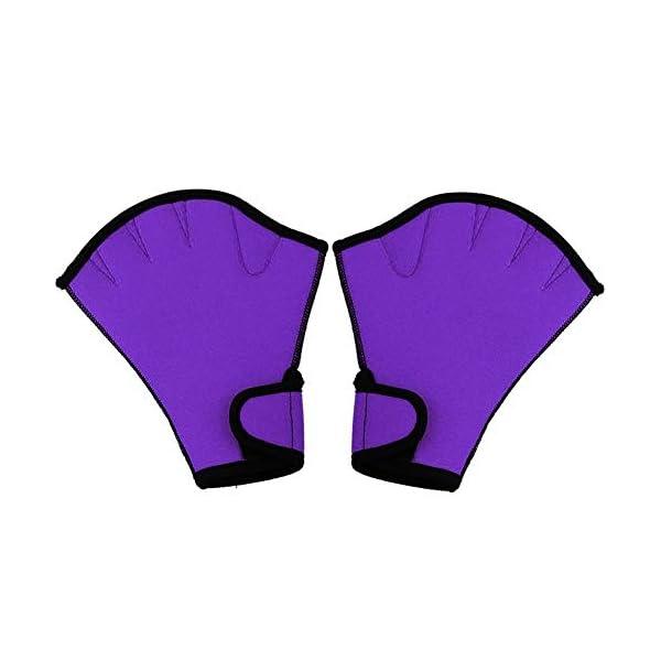 Queenback 1 Coppia Nuoto Guanti Acquatica Fitness Resistenza All'Acqua Aqua Fit Racchettone Allenamento Guanti senza… 1 spesavip