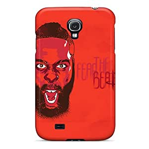 Shock Absorbent Hard Cell-phone Cases For Samsung Galaxy S4 With Support Your Personal Customized Stylish James Harden Pictures ErleneRobinson