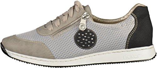 Rieker 56021 Women Low-Top Damen Sneaker Grau