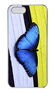 glitter cases papillon butterfly PC Transparent Case for iphone 5/5S