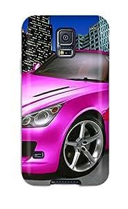 High Grade CaseyKBrown Flexible Tpu Case For Galaxy S5 - Tuned Concept Pink Car