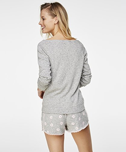Hunkemöller Damen Sweater Lashes Lips 131318