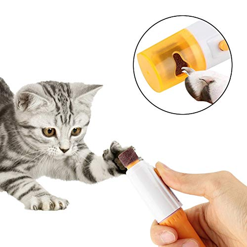 YCDC 1pc Pet Dog Cat Nail Grooming Grinder Trimmer Clipper Electric Nail File Kit,Painless Nail Grinder Trimmer Clipper, DC 3V, 2pcs AA Battery(Without) Operated File