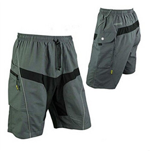 Outdoor Manager CA-Mens Mountain Loose-fit Biking Shorts Padded Coolmax Cycling MTB Shorts/Pant XXL (35.5-39.4)