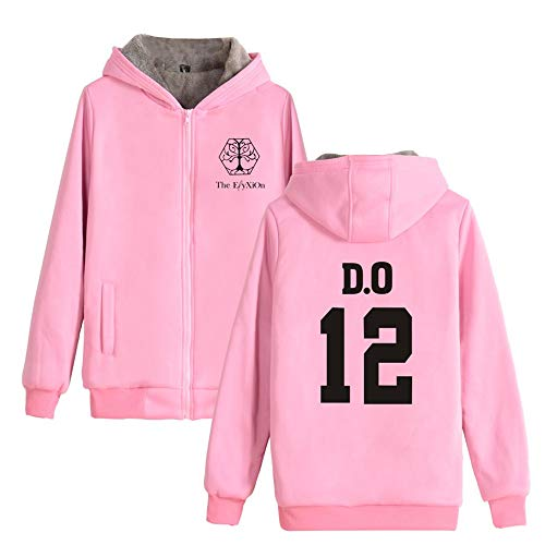 Spesso E Felpe Pink05 Più Giacca Per Cappuccio Quiquol Donne Cappotto Uomini Con Soprabito Caldo Outwear Exo Invernale Velluto RwTW4WYaqP