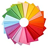 BTNOW 72 Sheets Multi Coloured Tissue Paper Gift Wrap Wrapping Paper Sheets for Art Craft Decorative Tissue Paper, 18 Colors, 20 × 26 Inch