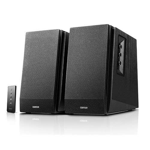 Edifier R1700BT Bookshelf Active Speakers with Bluetooth, RCA/AUX Input, EQ Control and Remote Control - Black