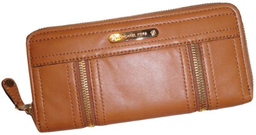 Women's Michael Kors Zip Around Continental Moxley Leather Wallet Luggage by Michael Kors