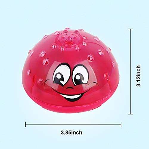 41Ur7kFbaAL. AC - Wellvo Baby Bath Toys, LED Light Up Bath Toys For Kids Toddlers Infant Boys And Girls, Sprinkler Shower Pool Bathroom Bathtub Toys For Baby (Pink)