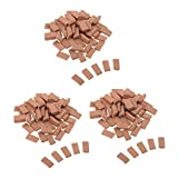 B Blesiya 150Pcs Red Bricks Model Toy 1:35 for Sand Table Diorama Architecture 11x6mm