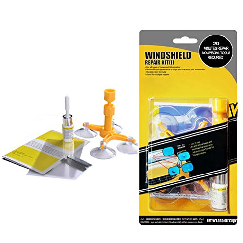 - GLISTON Car Windshield Repair Kit for Chips and Cracks