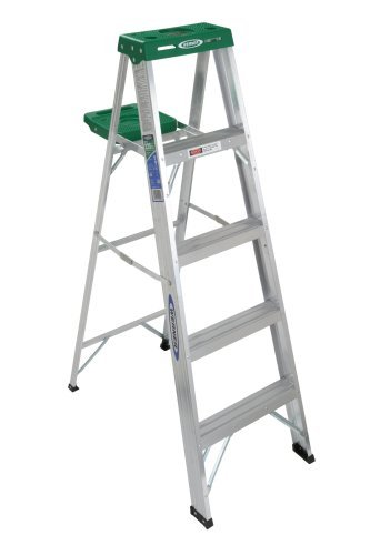 Werner 355 225-Pound Duty Rating Aluminum Stepladder, 5-Foot by Werner by Werner