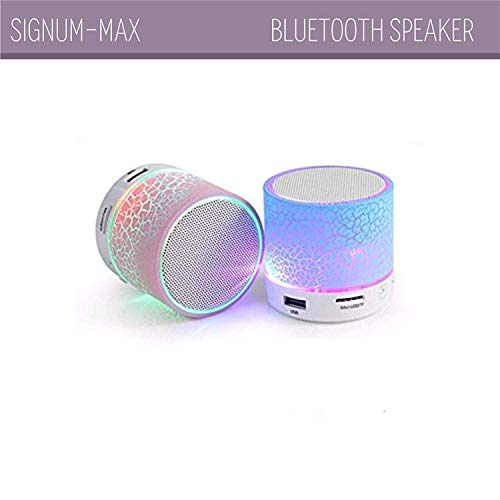 [2019 Smart] Portable Wireless Mini Bluetooth Speaker Loud Volume & Bass HD for iPhone iPad Android Smartphone More MP3 Player, FM Radio, Handsfree Call, AUX Input, TF Card and LED Light