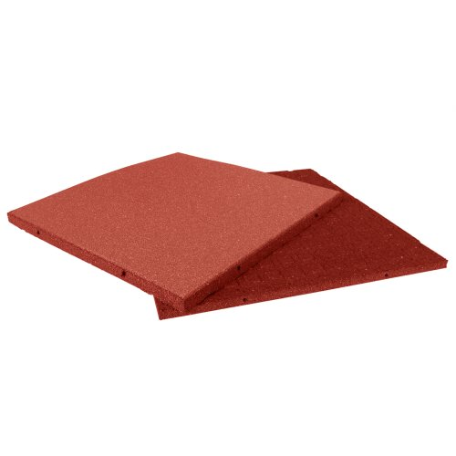 (Rubber-Cal Eco-Sport Floor Tile-Pack of 3, Red, 1 x 20 x 20-Inch)