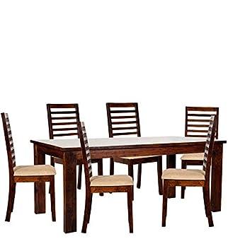 Shagun SA 7113 Six Seater Dining Table Set (Brown)