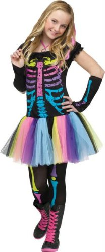 Funky Punk Bones Teen Costume (Junior-0/9)