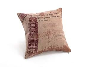 1 Pc Pillowcases Fashion Back Cushion Cover Pillow Case Waist Pillow Cotton 18*18 inches Decor (No 3)