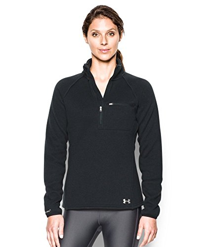 Under Armour Women's Wintersweet 1/2 Zip, Black/Glacier Gray