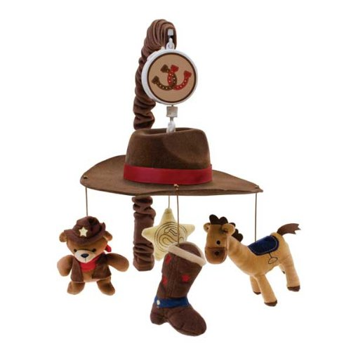 Lambs and Ivy Giddy Up Mobile, Brown/Blue, Baby & Kids Zone