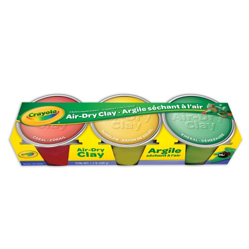 Crayola Air Dry Clay Colors Set, Modeling Clay, 1.5lb, 3 Count