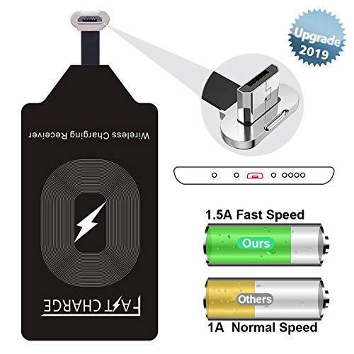 Wireless Charging Adapter Fast Charger QI Receiver Compatible LG G4 Stylo 2 3 V10 K7 Q6 Plus Samsung Galaxy S4 S3 J7 Pro A5 A3 Note 4 Moto G6 Play G5 G5S E4 Huawei Micro USB Module Card for Android (Samsung Qi Wireless Charging Cover For Galaxy S4)