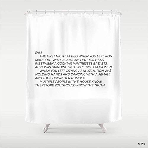 Home&hat Jersey Shore Letter to Sammi Shower Curtain 60 x 72 inch