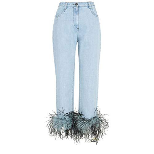 (Prada Women's Gfp3771p8vf0v3n Light Blue Denim Jeans)
