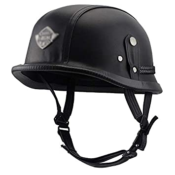 KYX-GAOMOUREN Moto Casco Motos Cascos Retro Casco Acero Casco Motos Casco Moto Manual Harley