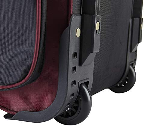 """Travelers Club 30"""" Xpedition Upright Rolling Travel Duffel Bag, Crimson Red , Large"""