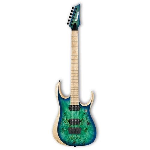 Ibanez RGDIX6MPB Iron Label 6-String Electric Guitar, 24 Frets, Nitro Wizard 3-Piece Neck, DiMarzio Fusion Edge Passive Pickup, Birdseye Maple Fretboard, Surreal Blue Burst by Ibanez