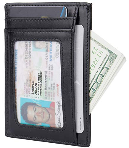 Slim Minimalist Front Pocket Two-sided RFID Blocking Wallets for Men & Women
