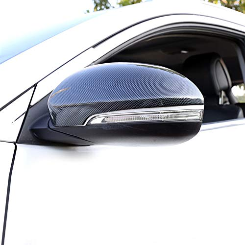 in ABS HIGH FLYING Colore Fibra di Carbonio 2 Pezzi Specchietto retrovisore Esterno per Tucson 2016-2019