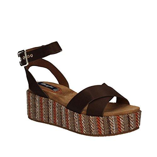 Wrangler WL171641 Wedge sandals Women Brown 5X1dbS