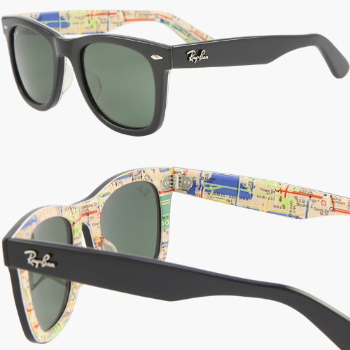 ray ban wayfarer limited edition sunglasses  amazon: ray ban wayfarer rare prints nyc metro sunglasses rb2140 1028 (50mm): clothing