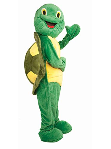 Forum Deluxe Plush Turtle Mascot Costume, Green, One Size -