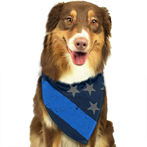 (MODREACH Pet Dog Bandana Scarf Pack Triangle Bibs Retro Police Officer Flag Kerchief Set Accessories for Small to Large Dogs Cats Pets)